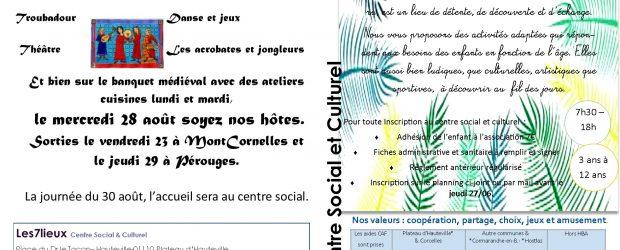 L'été approche, les inscriptions sont ouvertes. L'accueil de Loisirs est ouvert du 8 au 26 Juillet, puis du 19 au […]
